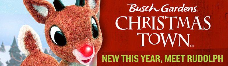 Busch Gardens Christmas Town - OOH Banner - Meet Rudolph
