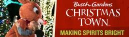 Busch Gardens Christmas Town - OOH Banner - Rudolph Hug