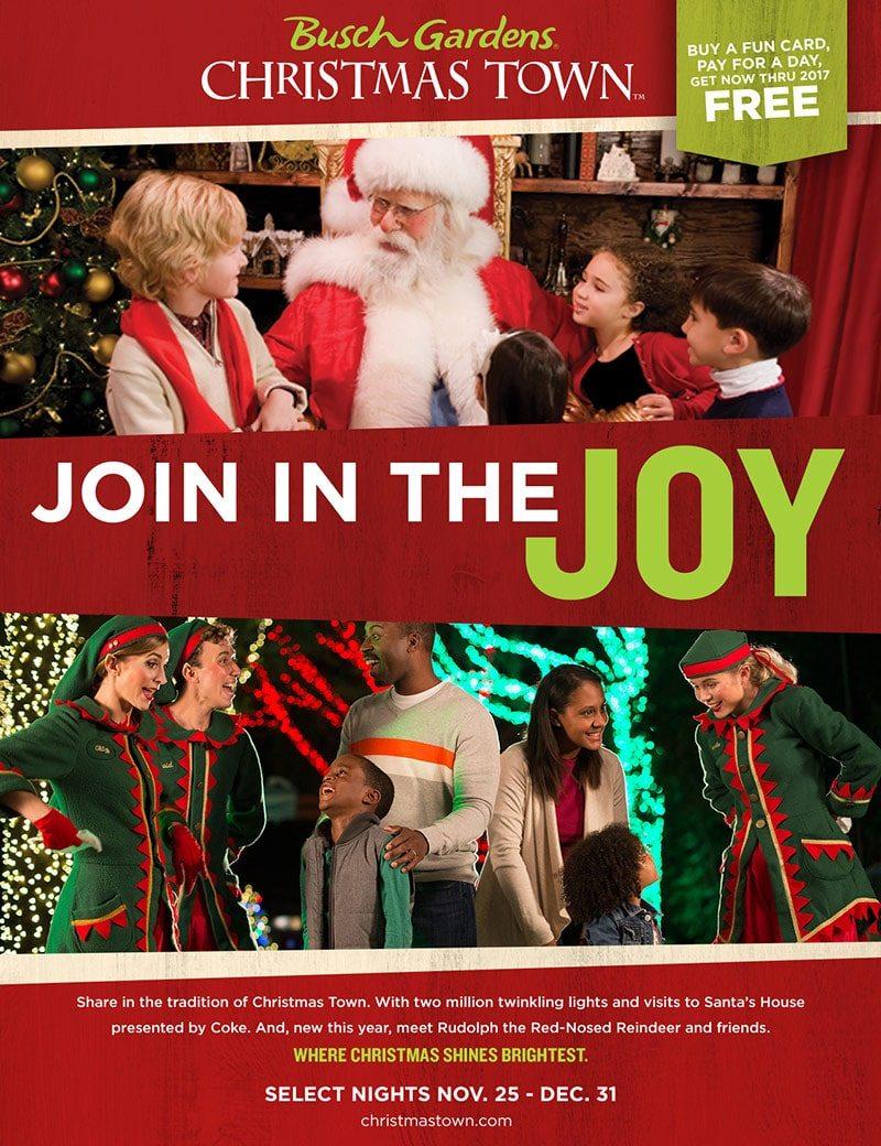 Busch Gardens Williamsburg Christmas Town Print Piece - Santa