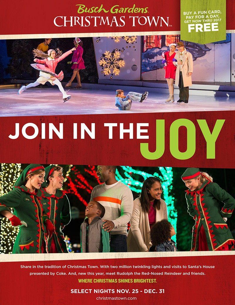 Busch Gardens Williamsburg Christmas Town Print Piece - Elves