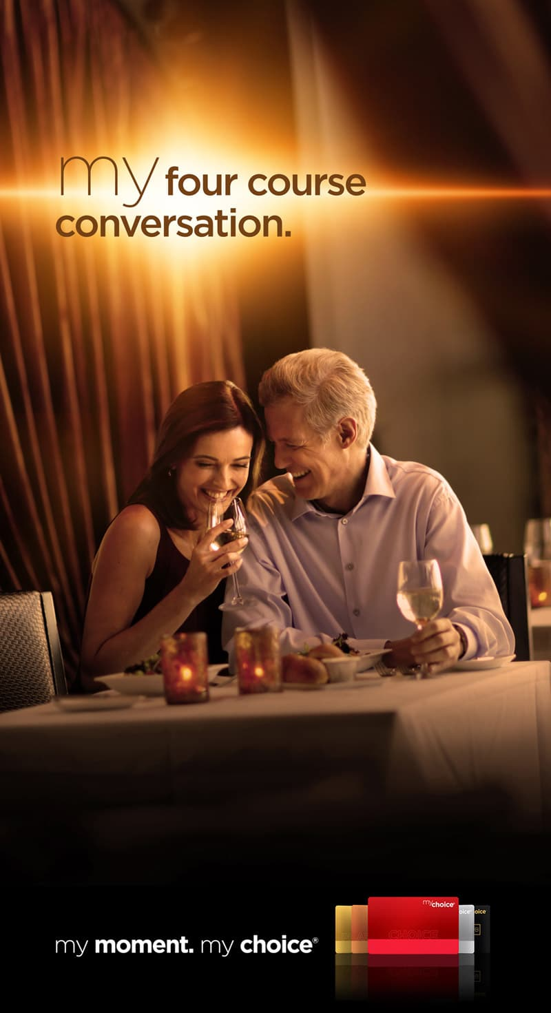 Pinnacle My Choice Campaign - My Four Course Conversation