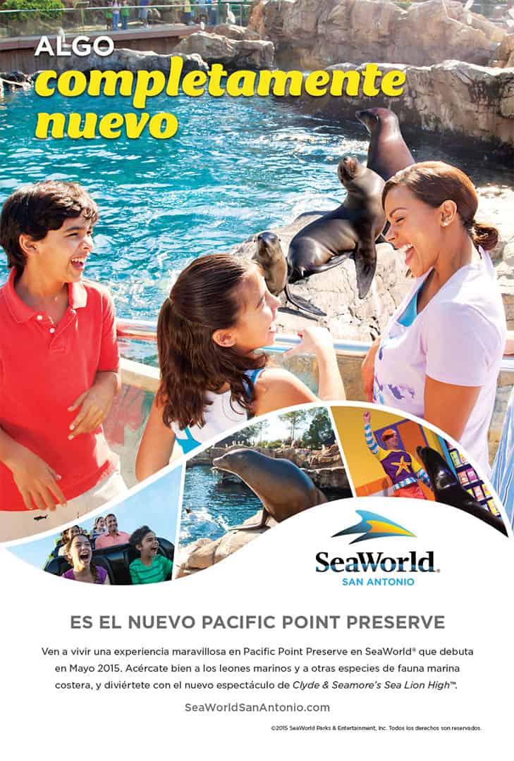 Spanish Advertisement SeaWorld Cannonball