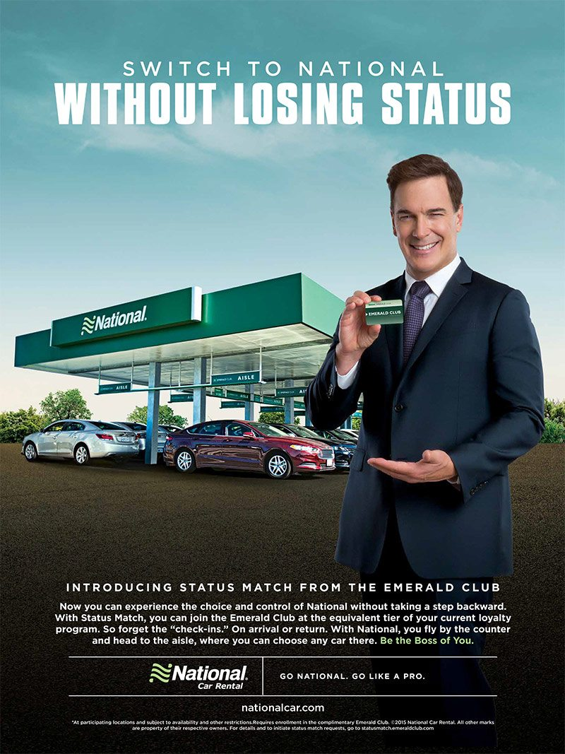 National Car Rental - Control Enthusiast Ad Campaign