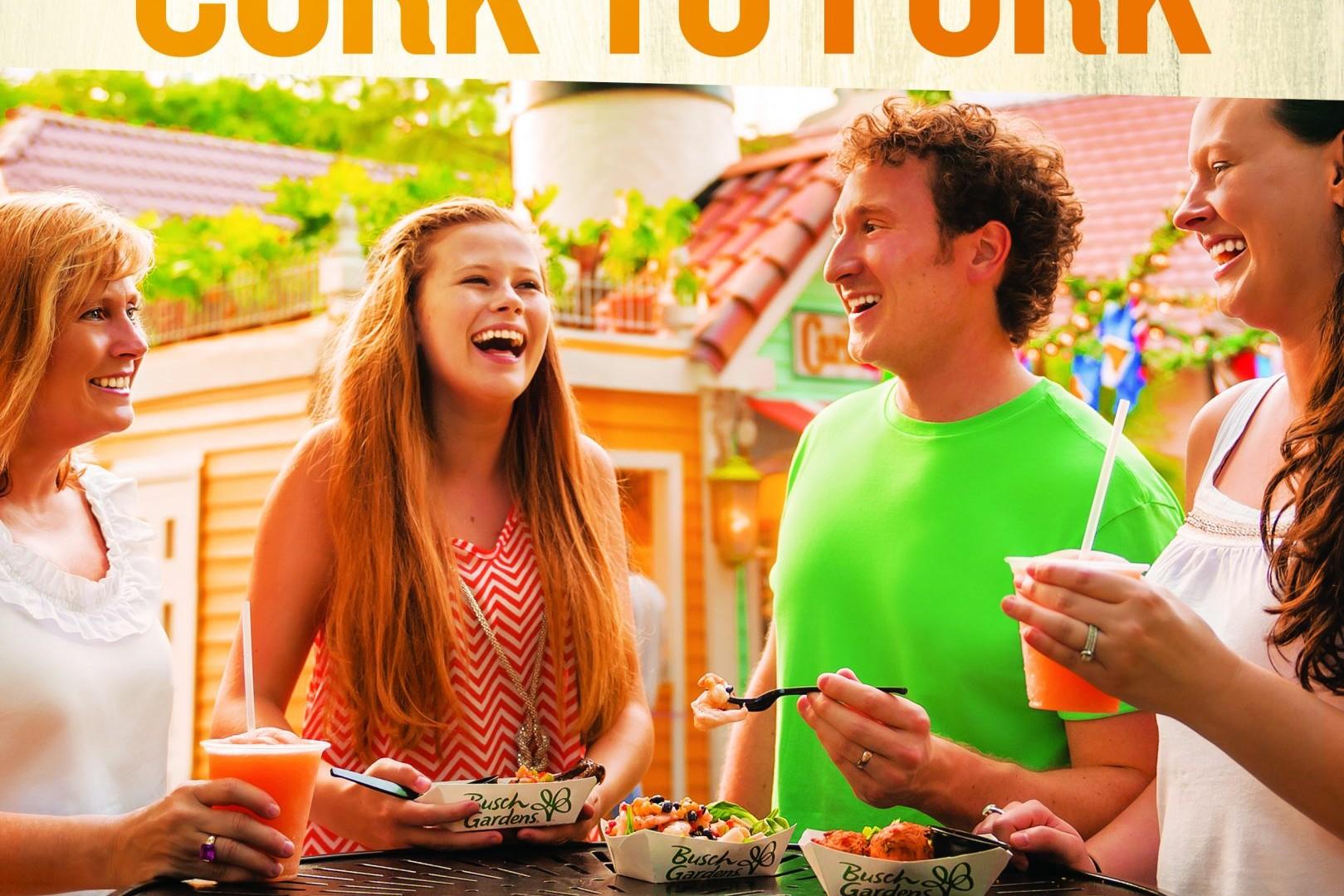 Busch Gardens Food & Wine Festival Print Design