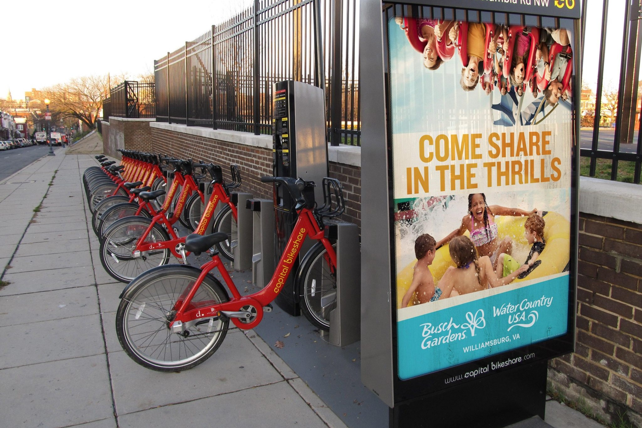 Busch Gardens Williamsburg Bike Share OOH