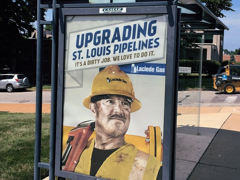 Laclede Gas Bus Shelter