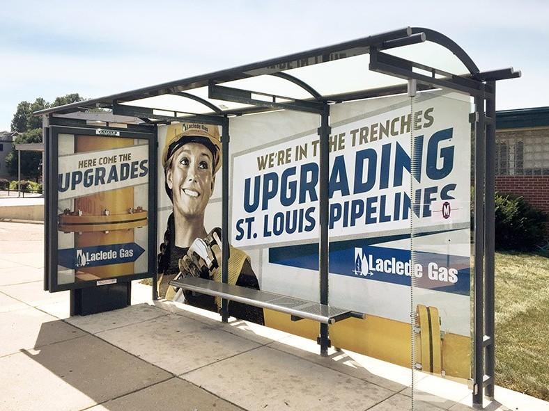 Laclede Gas Large Multi Pane Bus Shelter