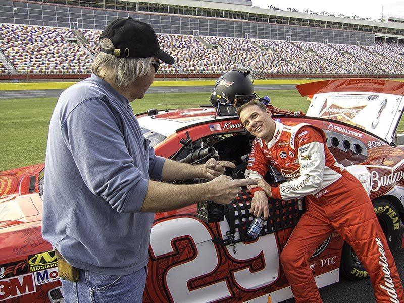 Budweiser Race Car Driver