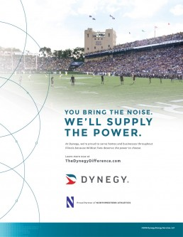 Dynegy Stadium Ad Design - Northwestern Athletics