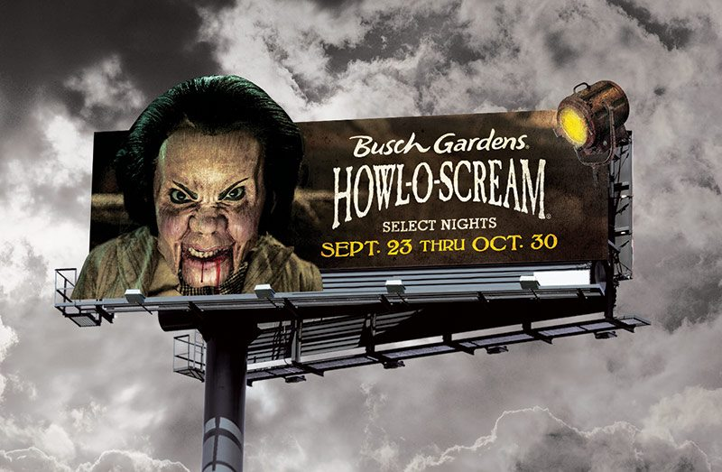 Busch Gardens Howl-O-Scream Encore Billboard