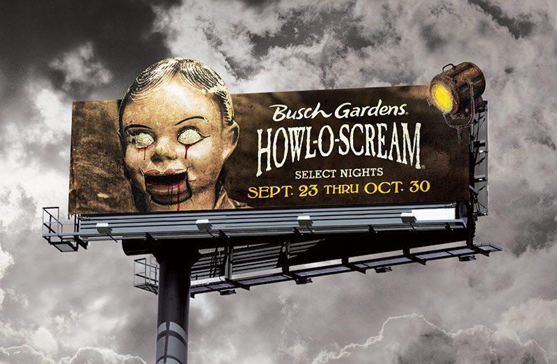 Busch Gardens Howl-O-Scream Billboard - Dummy