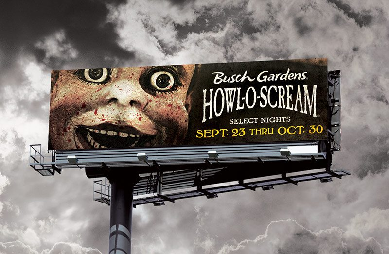 Busch Gardens Howl-O-Scream Billboard