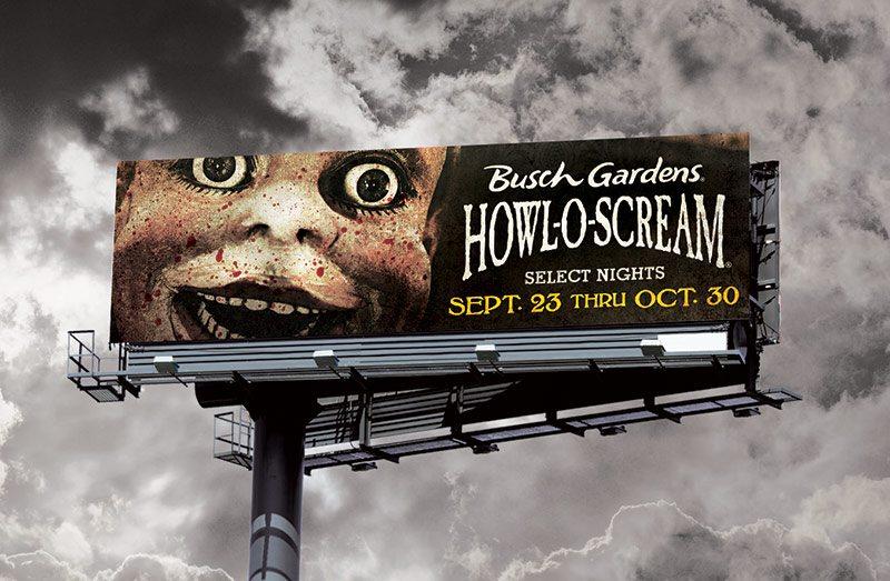 Busch Gardens Howl-O-Scream Billboard